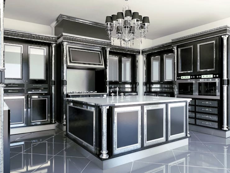 linea nera: Cucina in stile  di elisalage