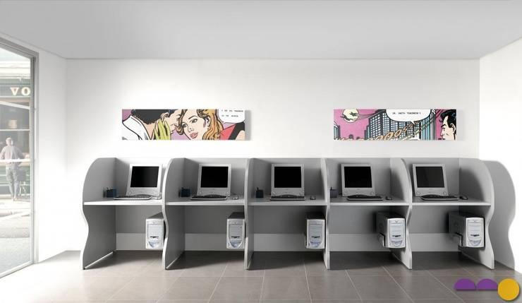 Oficinas y locales comerciales de estilo  por Muebles Flores Torreblanca