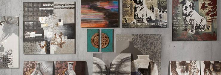 AUXILIARES Y DECORACIÓN: Salones de estilo moderno de Muebles Flores Torreblanca