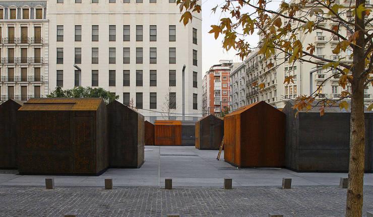 kiosk m.poli:  Geschäftsräume & Stores von Brut Deluxe Architektur + Design,Rustikal