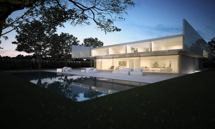 Casa de Aluminio. Fran Silvestre Arquitectos: Casas de estilo minimalista de FRAN SILVESTRE ARQUITECTOS
