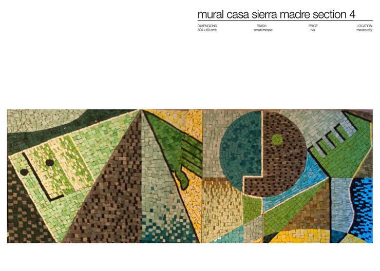 CASA SIERRA MADRE MEXICO : Paredes y suelos de estilo  de Martin Brown Mosaics