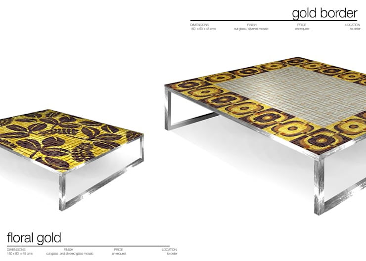 CENTRE TABLES /MESAS DE CENTRO : Salones de estilo  de Martin Brown Mosaics