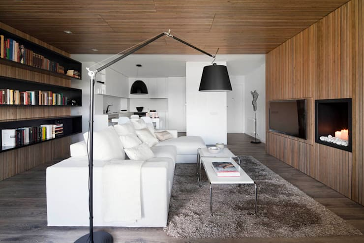 Projekty,  Salon zaprojektowane przez Susanna Cots Interior Design
