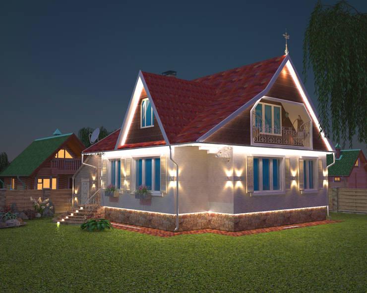 Фасад загородного дома: Дома в . Автор – Гурьянова Наталья, Классический