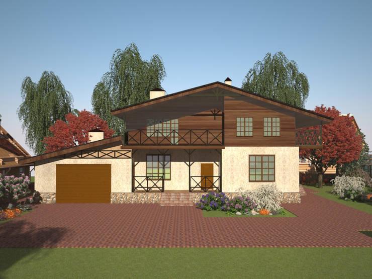 Проект индивидуального жилого дома в стиле шале: Дома в . Автор – Гурьянова Наталья