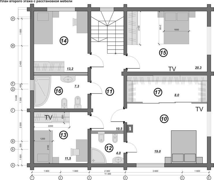 План второго этажа:  в . Автор – Гурьянова Наталья