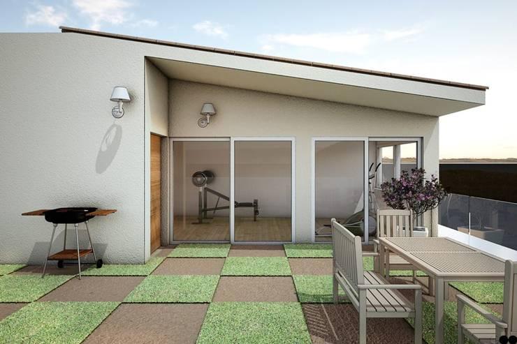 Casa X: Gimnasios de estilo  por REA + m3 Taller de Arquitectura