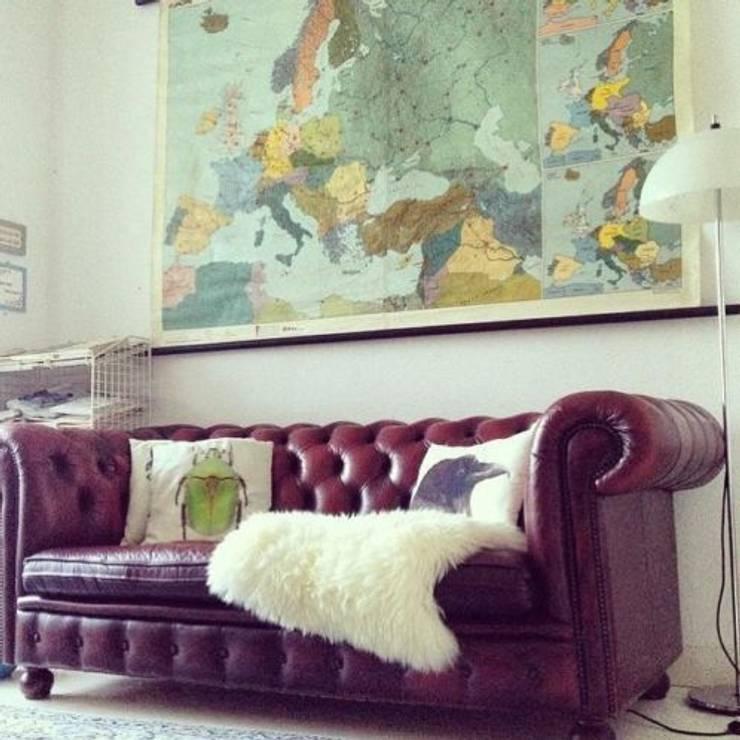 Chesterfield:  Woonkamer door Thuisinstyling