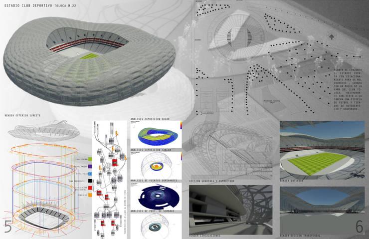 Propuesta estadio CDT: Estadios de estilo  por Arquitectura Libre