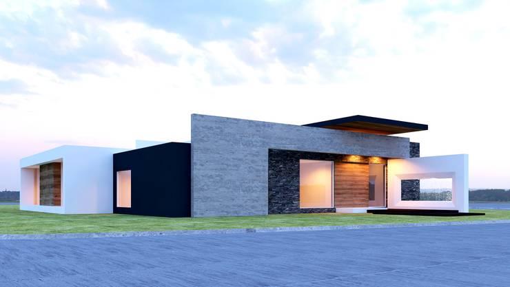 IMPONENTE ELEGANCIA: Casas de estilo  por SYD CONSTRUCTORES