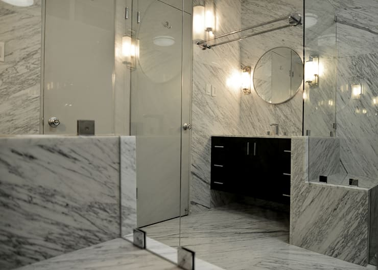 Mammoth Bathroom, Los Angeles CA. 2014: Baños de estilo  por Erika Winters® Design