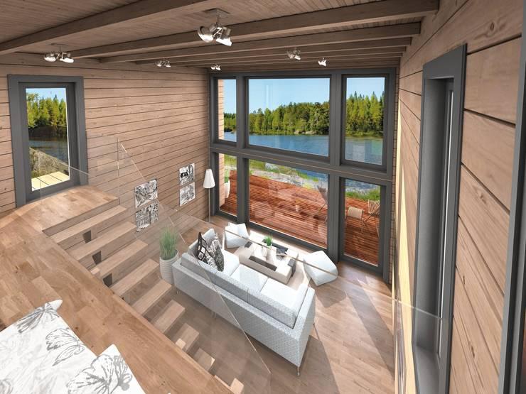 Casas unifamiliares de estilo  por THULE Blockhaus GmbH - Ihr Fertigbausatz für ein Holzhaus