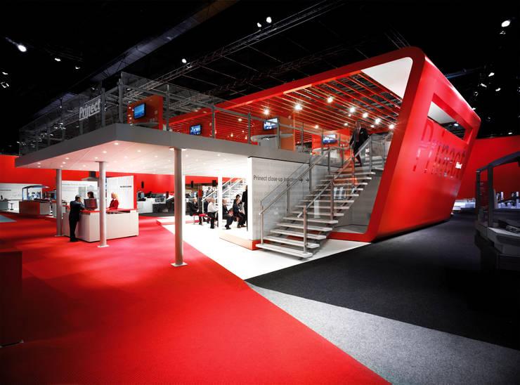 Messeauftritt der Heidelberger Druckmaschinen AG in Birmingham:  Messe Design von stengele+cie.,
