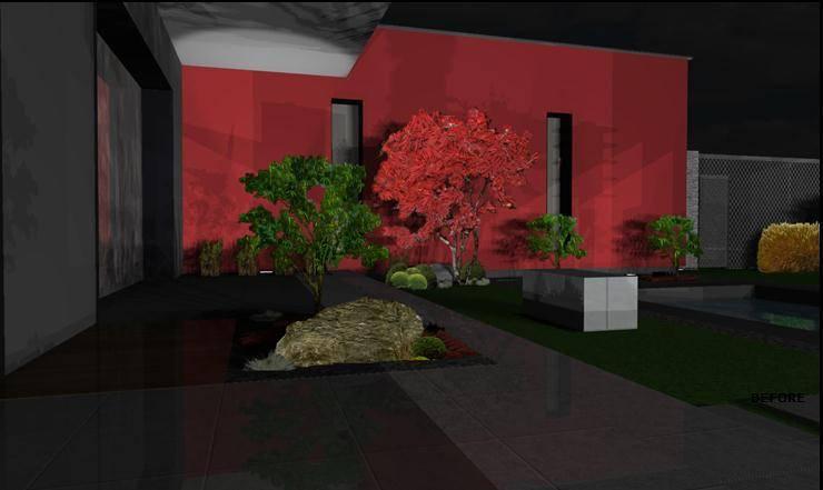 Etude – concept – Paxsage 3D: Jardin de style  par Art Bor Concept