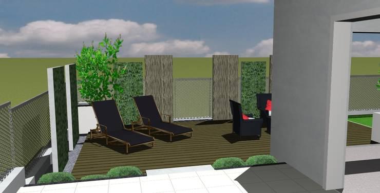 Etude – concept – Paxsage 3D: Terrasse de style  par Art Bor Concept