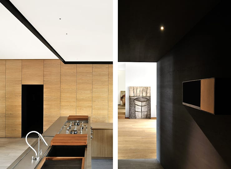 wood and iron apartment: Cucina in stile in stile Mediterraneo di LCArchitetti