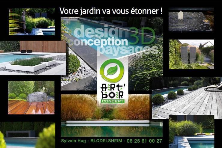 Déroulement d'une étude Art Bor Concept: Jardin de style  par Art Bor Concept