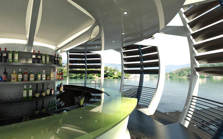 TST 01 Floating kiosk:  in stile  di Torrisi & Procopio Architetti