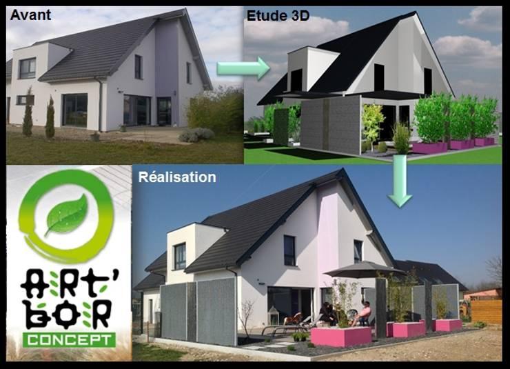 Etude – concept – Paxsage 3D: Maisons de style  par Art Bor Concept