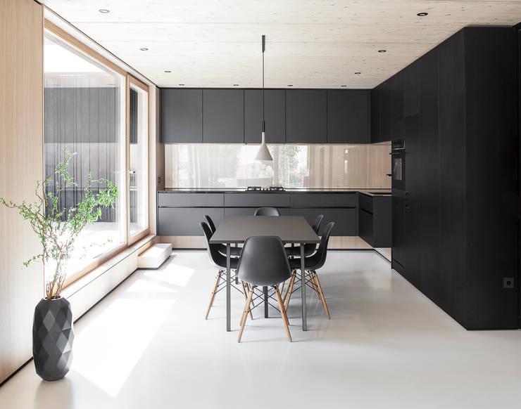 House B:  Küche von FORMAT ELF ARCHITEKTEN