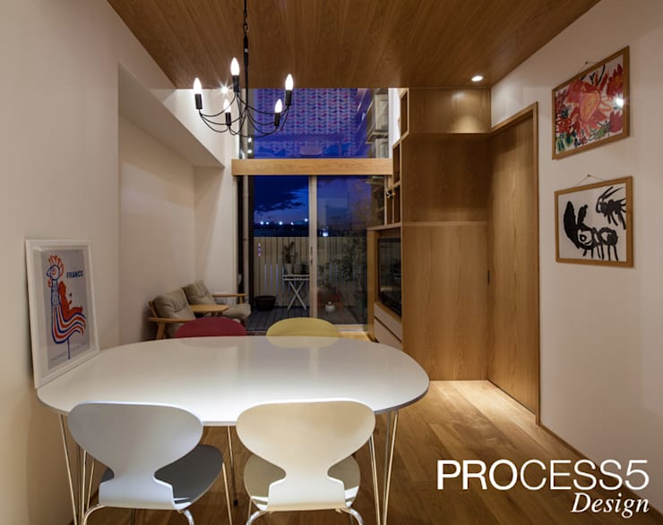 Multimedia-Raum von 株式会社PROCESS5 DESIGN, Minimalistisch