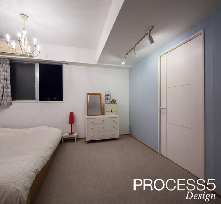 Schlafzimmer von 株式会社PROCESS5 DESIGN, Minimalistisch