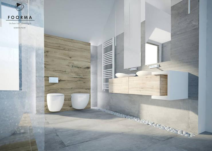 ห้องน้ำ โดย FOORMA Pracownia Architektury Wnętrz,