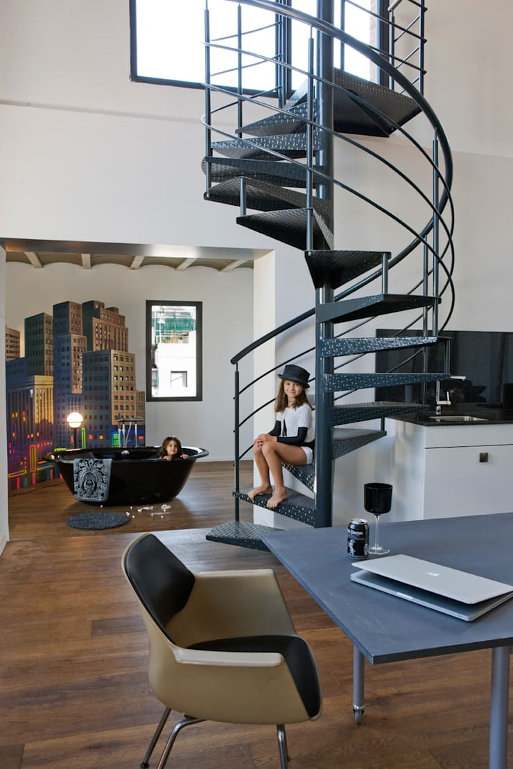Loft Sensual: Estudios y despachos de estilo  de BARASONA Diseño y Comunicacion
