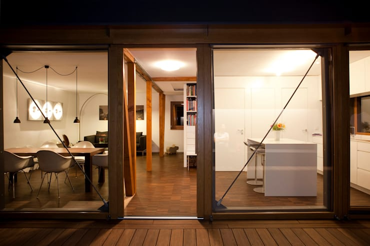 Nachher Bilder – Umbau:  Terrasse von Holzerarchitekten,