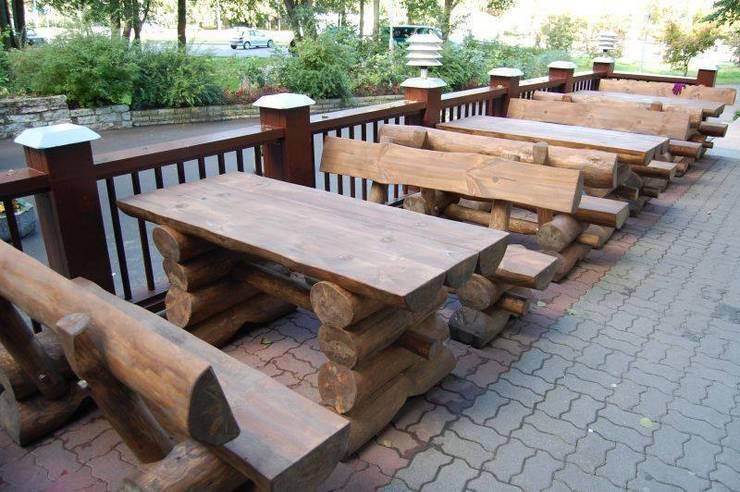 Rustic Garden Furniture Set for Pub and Beer Gardens in UK:  Garden  by Baltic Gardens Ltd