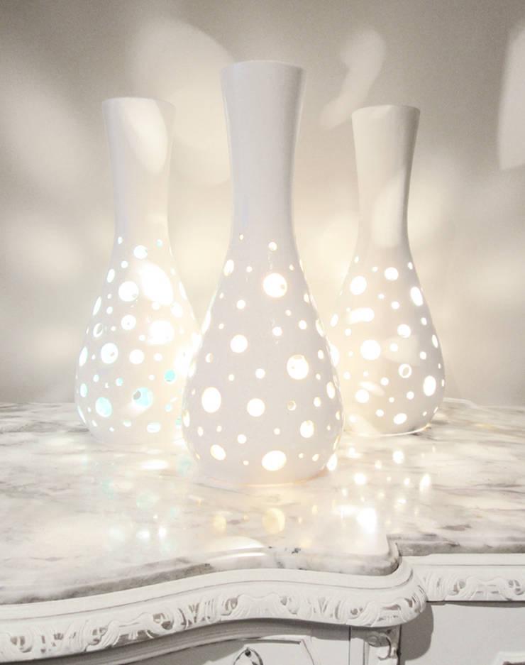 Salina: Salones de estilo mediterráneo de Estellesdesign