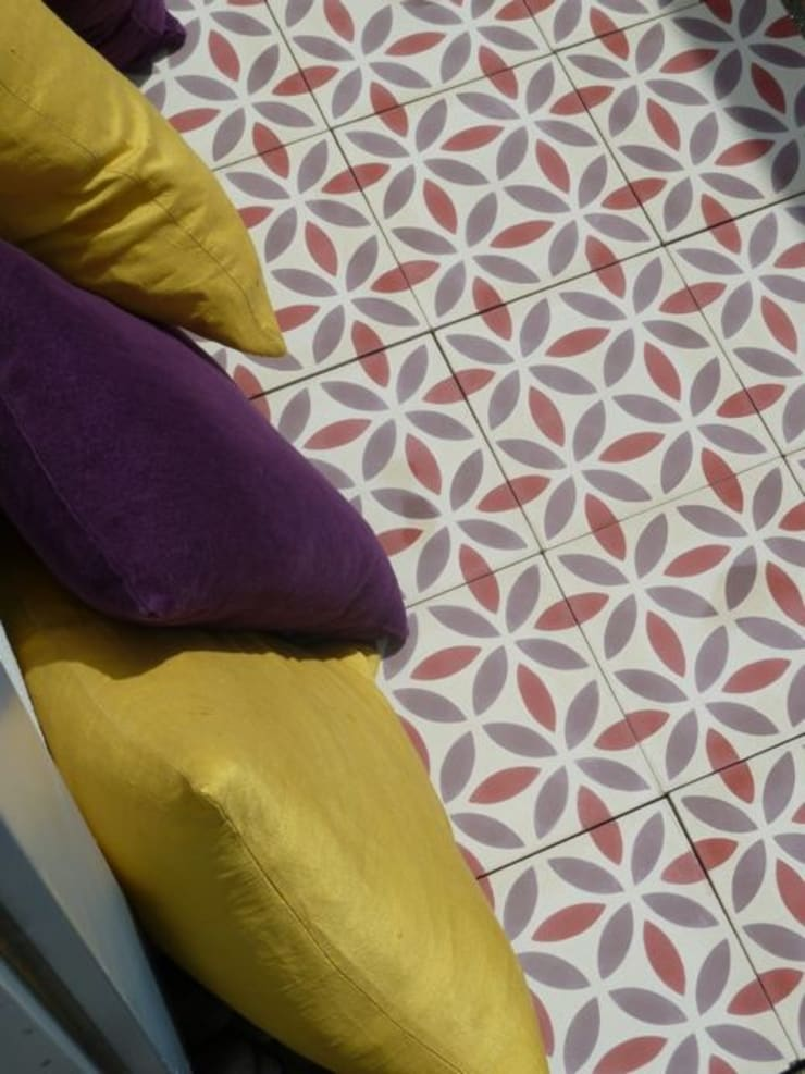 Oasis cement tile:  Walls & flooring by Maria Starling Design