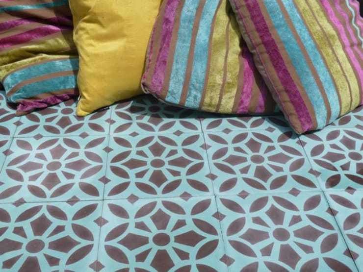 Maroq cement tile:  Walls & flooring by Maria Starling Design