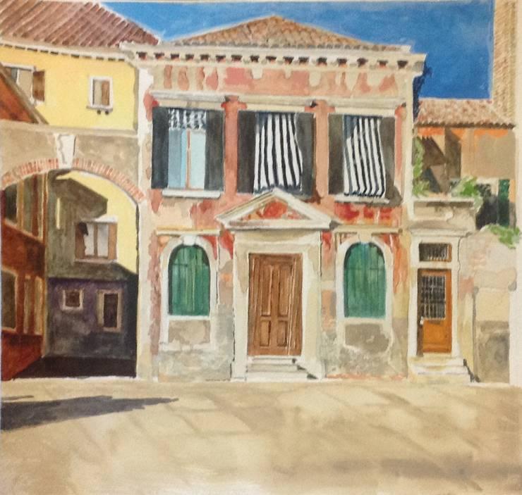 Venetian House:  Corridor, hallway & stairs by Valerie Cook House Portraits