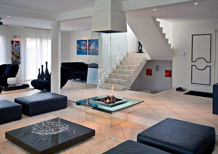 eclectic Living room by Bloch Design