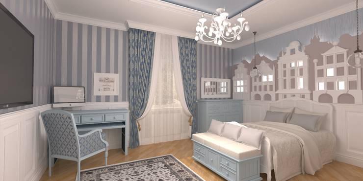 Благородная неоклассика: Детские комнаты в . Автор – Студия Маликова