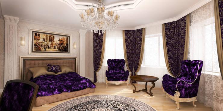 Благородная неоклассика: Спальни в . Автор – Студия Маликова