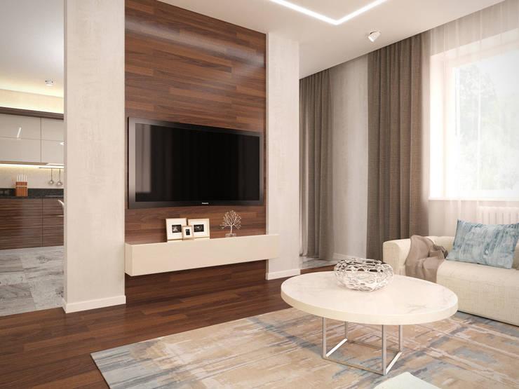 Salones de estilo  de Архитектурно-строительное бюро ID Craft