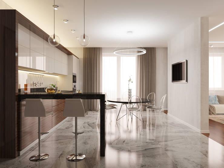 Cocinas de estilo  de Архитектурно-строительное бюро ID Craft