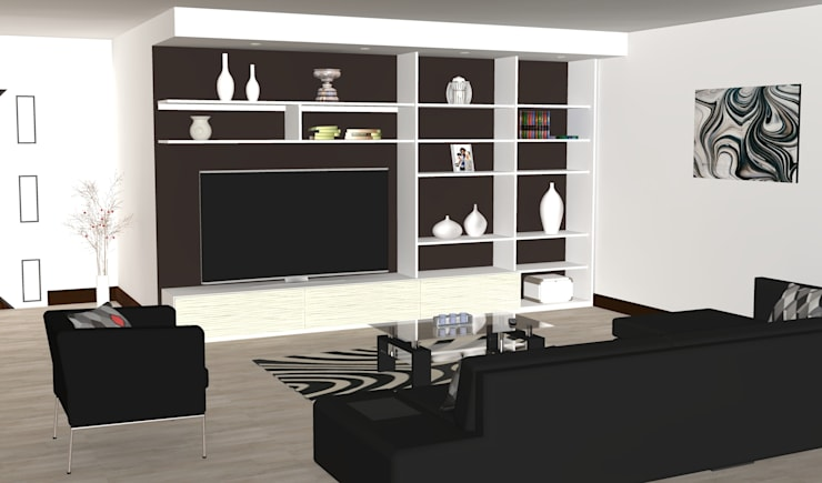 Wall Furniture, TV Entertainment Units: modern  by Piwko-Bespoke Fitted Furniture, Modern