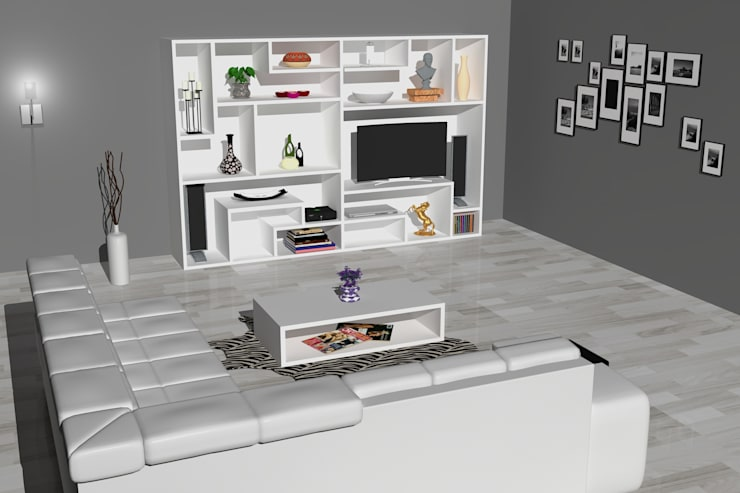 Wall Furniture:  Living room by Piwko-Bespoke Fitted Furniture
