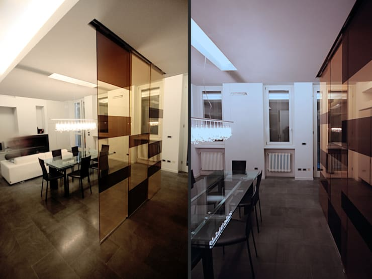 Private Flat APP_G_AL: Sala da pranzo in stile  di Diego Bortolato Architetto