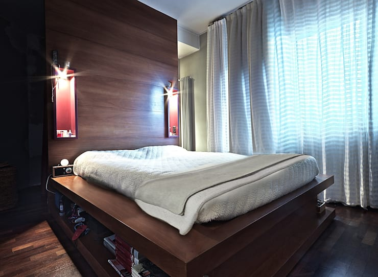 Private Flat APP_P_VA: Camera da letto in stile  di Diego Bortolato Architetto