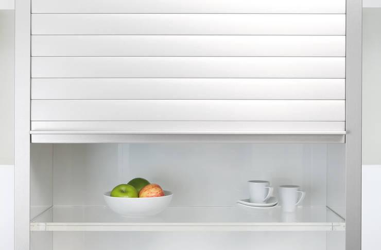 Мебельные роллеты с алюминиевым покрытием Rauvolet Metallic-line: Кухня в . Автор – Rauvolet