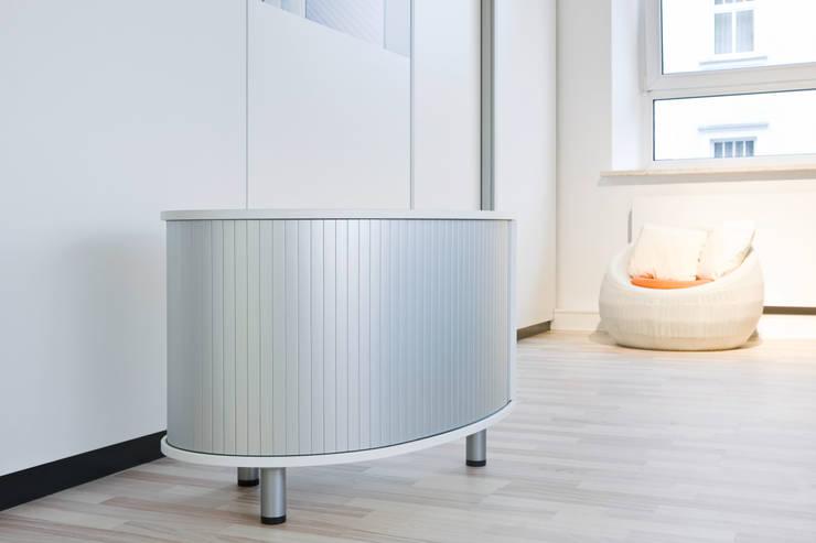 Мебельные роллеты с алюминиевым покрытием Rauvolet Metallic-line: Гостиная в . Автор – Rauvolet