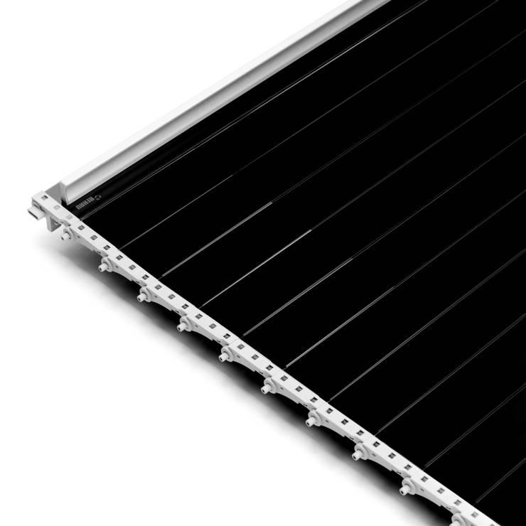 Мебельные роллеты из закаленного стекла серия Rauvolet Vetro-line (черный глянец): Офисные помещения и магазины в . Автор – Rauvolet