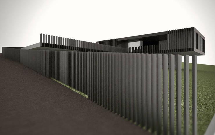 casa nera:  in stile  di fabio ferrini architetto