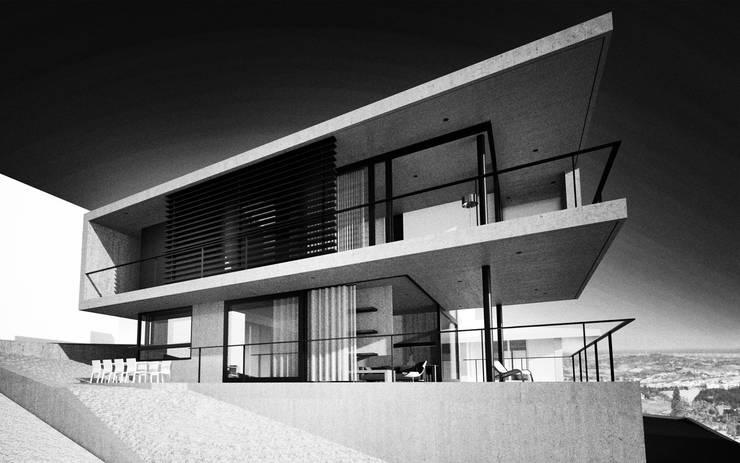 casa in calcestruzzo:  in stile  di fabio ferrini architetto