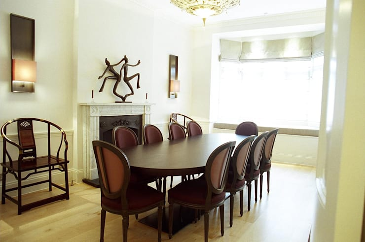 Mayfair:  Dining room by Gregory Phillips Architects